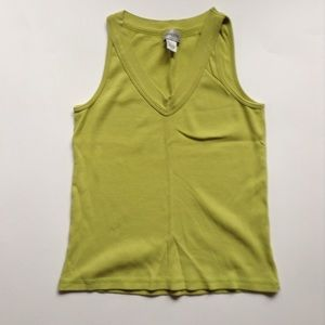Chico's lime green tank top